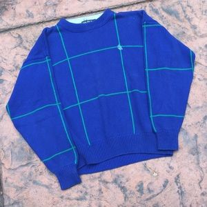 Vintage Blue and Teal Nautica Crewneck Sweater